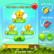 Link toCute game button and other design elements 04