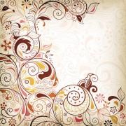 Link toDecorative floral pattern vector background art 01