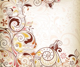 Decorative floral pattern vector background art 01