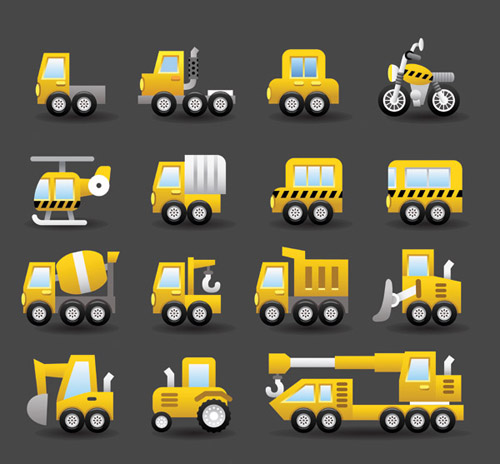 Different transportation icons vector material 03