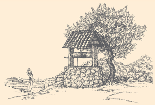 Countryside Landscape Drawings