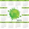 Eco style 2015 calendar vector 05