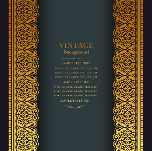 Elegant Floral Vintage Backgrounds Vector 02 Vector