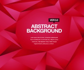 Embossment triangle red background vector
