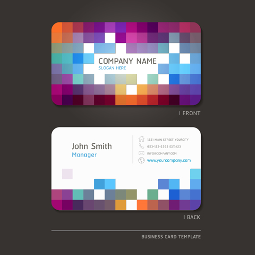 Excellent modern business card vector material 01 vector card free excellent modern business card vector material 01 reheart Gallery