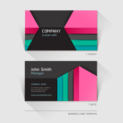 Excellent modern business card vector material 02 vector card free excellent modern business card vector material 02 reheart Gallery