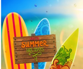 Excellent summer holidays background vector 01