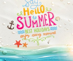 Excellent summer holidays background vector 02
