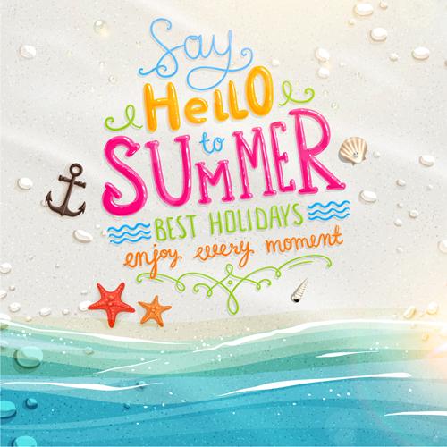 Excellent summer holidays background vector 02