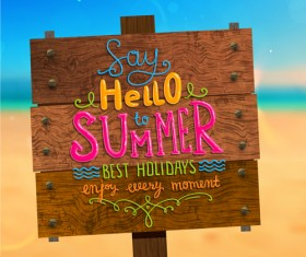 Excellent summer holidays background vector 03