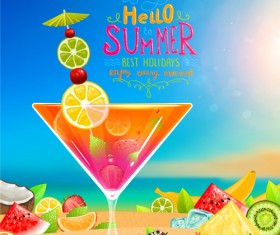 Excellent summer holidays background vector 04