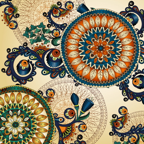 floral ethnic patterns background art graphics free download