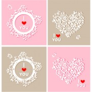 Link toFloral heart and clock vector