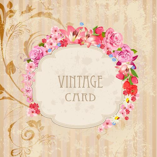 Flower Frames Labels Card Vector Set 02 Free Download