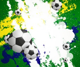 Football and grunge backgrounds vector design