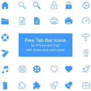 Free tab bar icons psd material