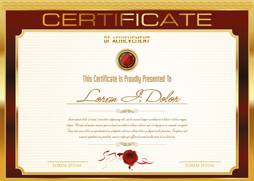 Certificate Template Vector - Page 2 Of 4 For Free Download