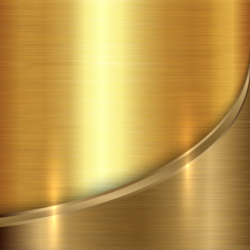 Golden metal textures vector background