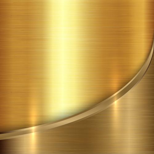 Golden Metal Textures Vector Background Vector