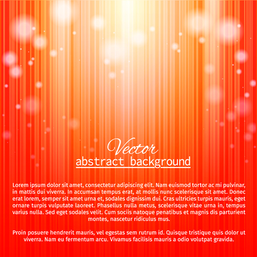 Halation red abstract vector background