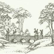 Link toHand drawn bridges retro style vector 04