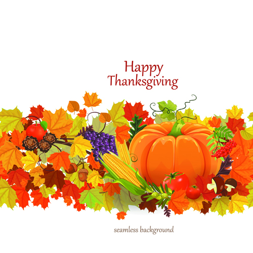 Happy thanksgiving background design vector 01