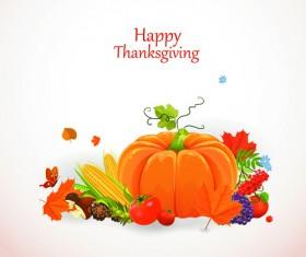 Happy thanksgiving background design vector 03