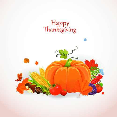 Happy thanksgiving background design vector 03