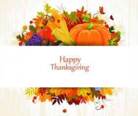 Happy thanksgiving background design vector 05