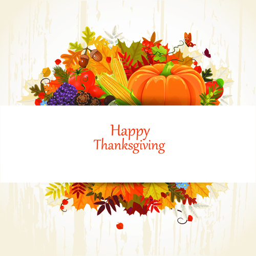 Happy thanksgiving background design vector 05