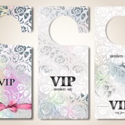 Link toLuxury vip tags vector material