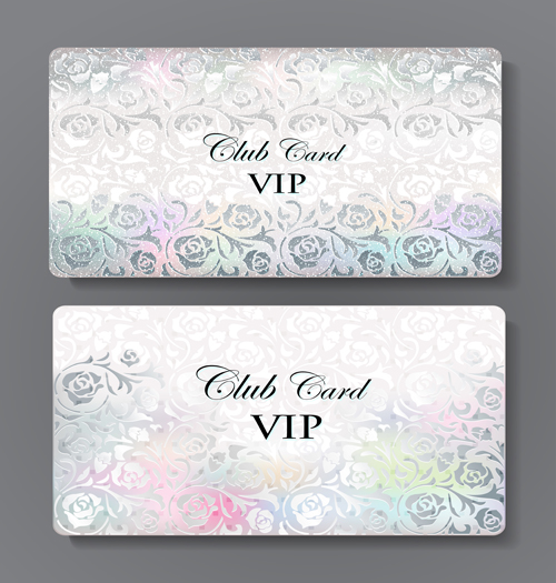 Luxury club cards design elements vector 04 free download