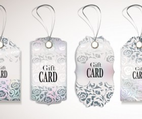 Luxury gift cards vector graphics 01