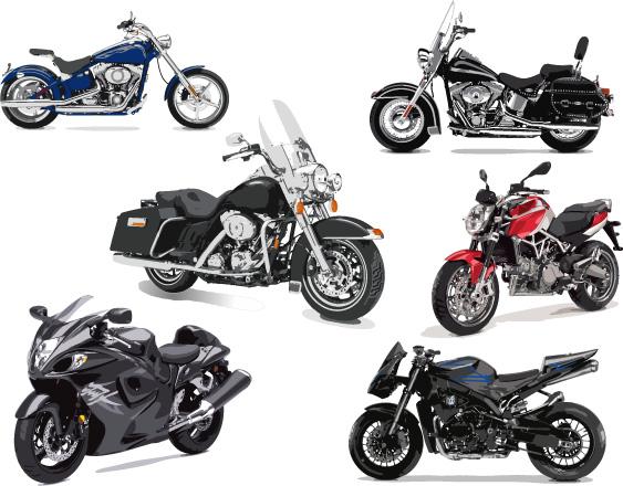 Luxury motorcycles vector design