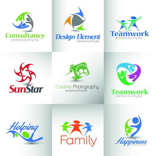 Modern business logos design art vector 02 - Vector Logo free download