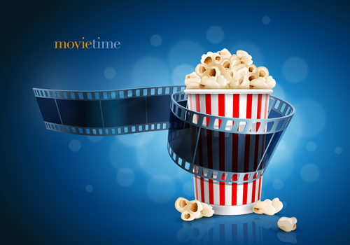 Movie time design elements vector backgrounds 03 - Vector ...