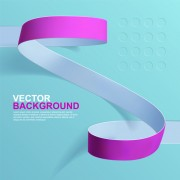 Paper ribbon vector background material