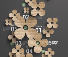 Parchment polygonal with infographics vector 02