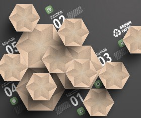 Parchment polygonal with infographics vector 04