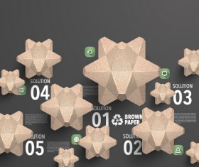 Parchment polygonal with infographics vector 05