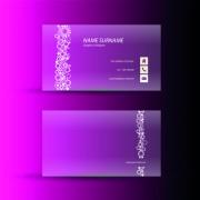 Link toPink business cards template design vector 01