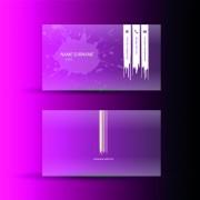 Link toPink business cards template design vector 04