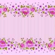 Link toPink roses frame background vector