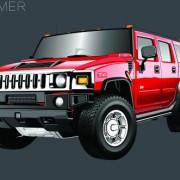 Link toRealistic hummer h2 vector material