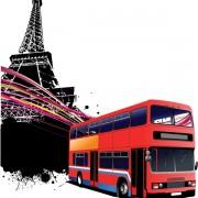 Link toRealistic buses urban vector set 01