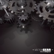 Link toRealistic gear design vector background 01