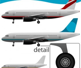 Realistic planes design vector graphic 02