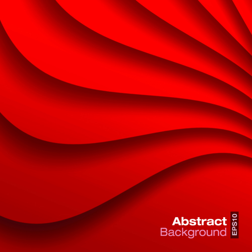 Red wave abstract vector background 01 - Vector Background ...