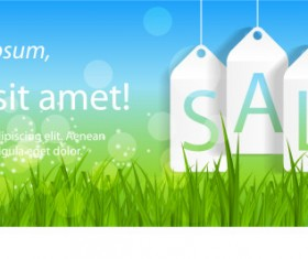 Refreshing summer sales background vector