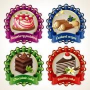 Link toRibbon labels sweet design vector graphics 03